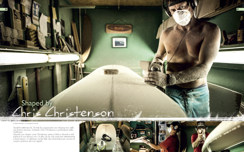 Editorial for Surf Latino featuring Chris Christenson at DrAnk laboratory