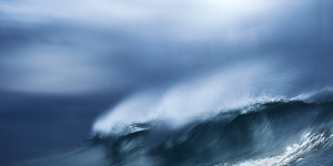 an abstract fine art image of a wave in Portugal