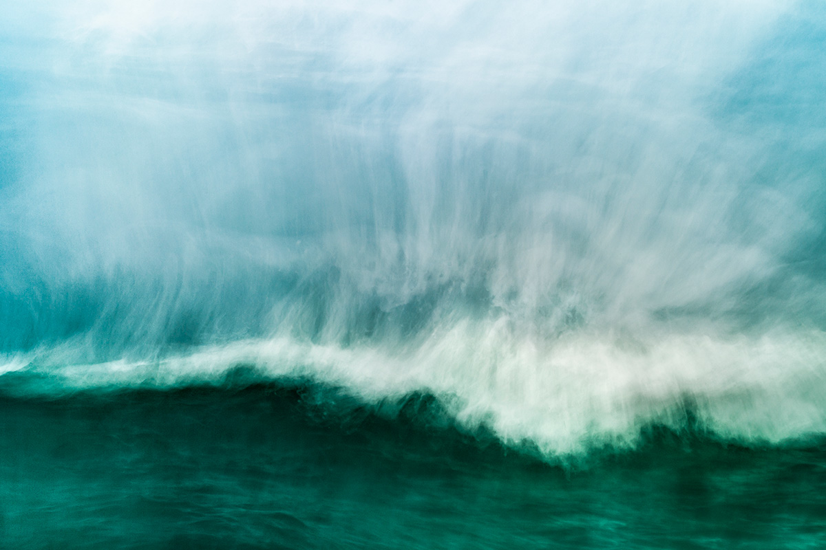 fine art abstract image of the ocean taken in the water