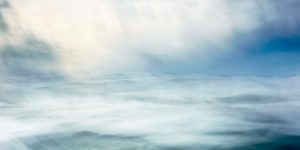 abstract fine art image of a stormy ocean
