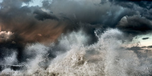 Abstract fine art image of the sea in italy, Pisa