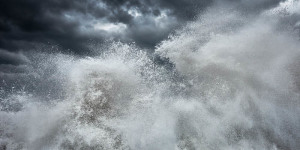 Abstract fine art image of the sea in Portugal