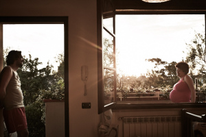 fine art and reportage photography of my sister at her house close to the ocean