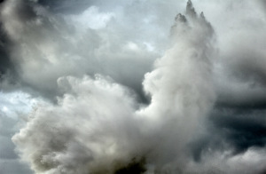ine art photo of a stormy sea in Italy with a wave forming an abstract pattern with the clouds. Marina di Pisa