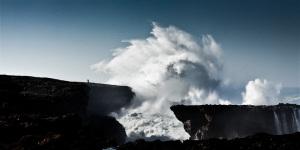 Fine art color image of a seascape in the Atlantic ocean in Portugal