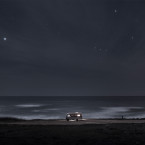 Landscape and seascape fine art photography of my van parked along the south coast of Portugal, Alentejo