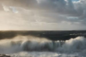 fine art photo of the atlantic ocean, a seascape taken from a cliff in alentejo