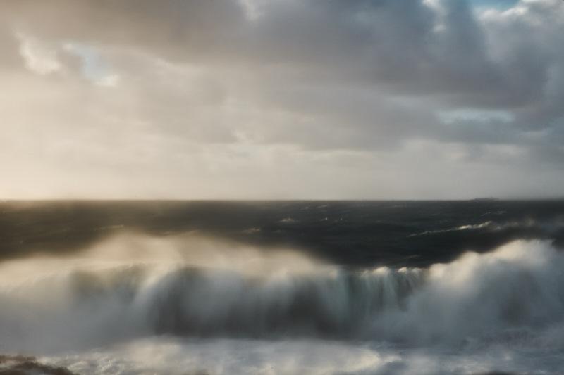 fine art photo of the atlantic ocean, a seascape taken from a cliff in alentejo