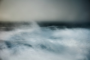 fine art abstract seascape of the atlantic ocean taken in Portugal