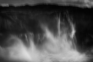 Fine art abstract photography in black and white of a stormy ocean in Portugal