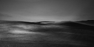 fine art black and white photograph of hills in Tuscany