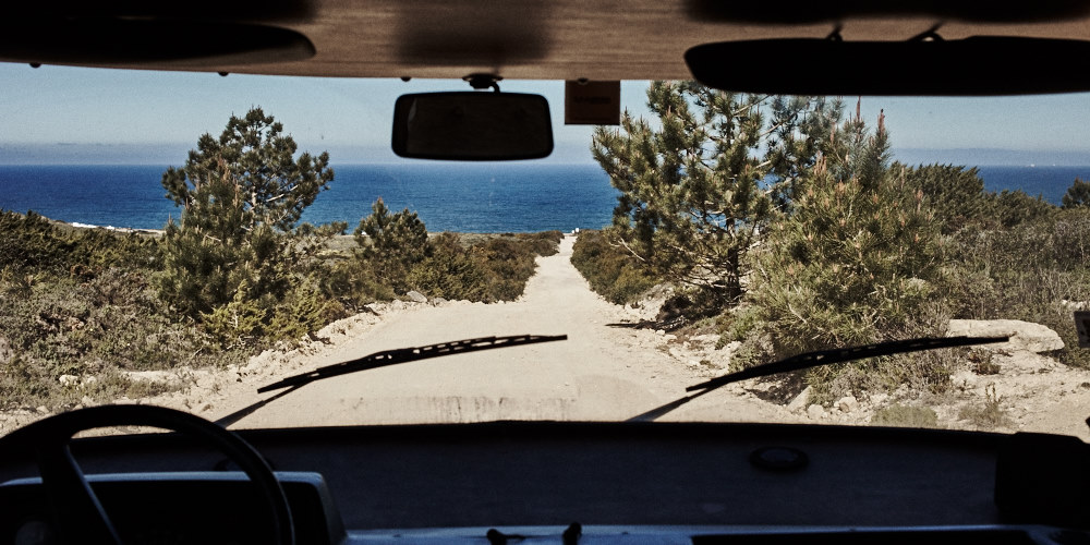 fine art photo of a beach in South Portugal called Praia do Malhào. This is the dirty road to get there