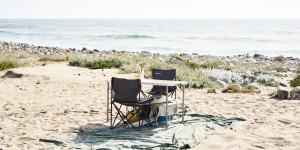 a table for two on the beach in Portugal close to Porto Covo in Alentejo