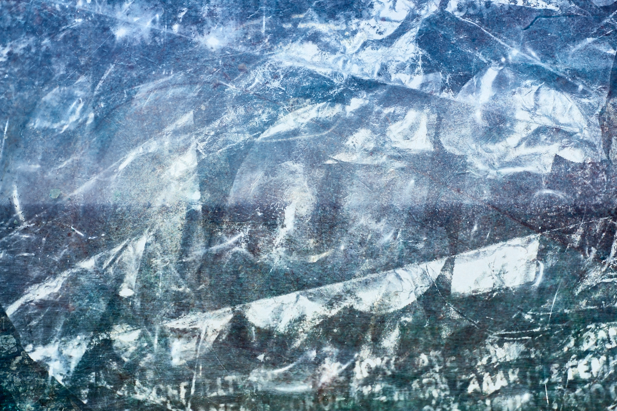 fine art seascape made out of multiple exposure using a photo of at the atlantic ocean plus some images of garbage