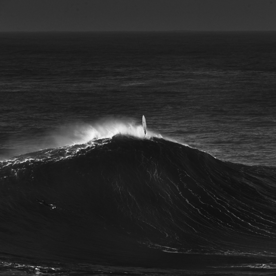 fine art black and white seascape taken in Nazarè, Portugal