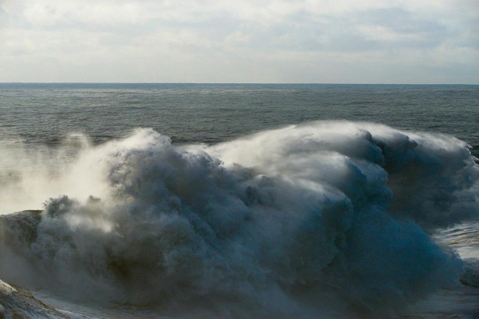 Fine art photo of a huge wave in Nazaré, Portugal