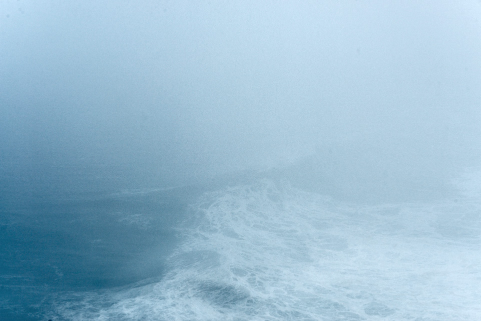 fine arte abstract seascape photography of a misty day in Nazaré, Portugal