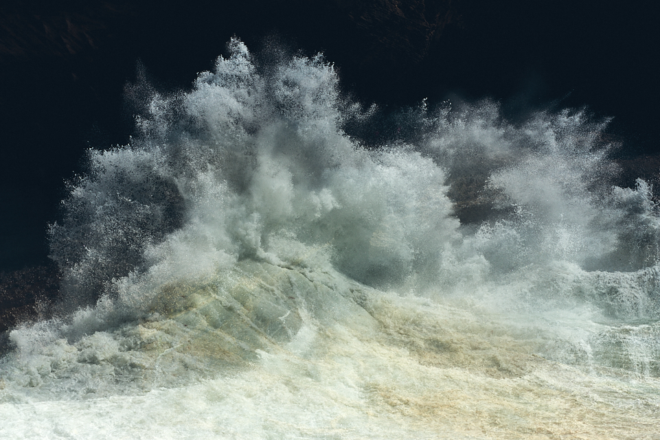 abstract fine art seascape photography of the Atlantic ocean in Portugal