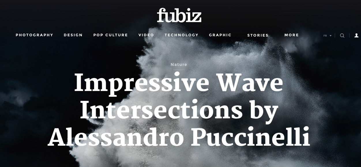 fine art image of a seascape on the atlantic ocean featured on Fubiz
