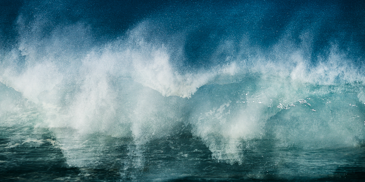 Fine art abstract seascape of a wave breaking in Portugal.This image is part of a larger serie exploring the concept of Chaotic system applied to waves.