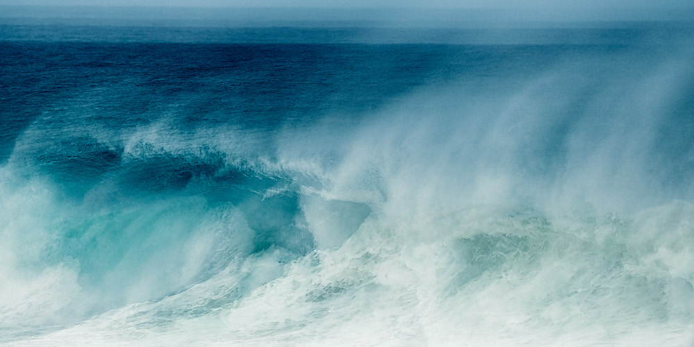 fine art abstract seascape photo of a swell in Portugal