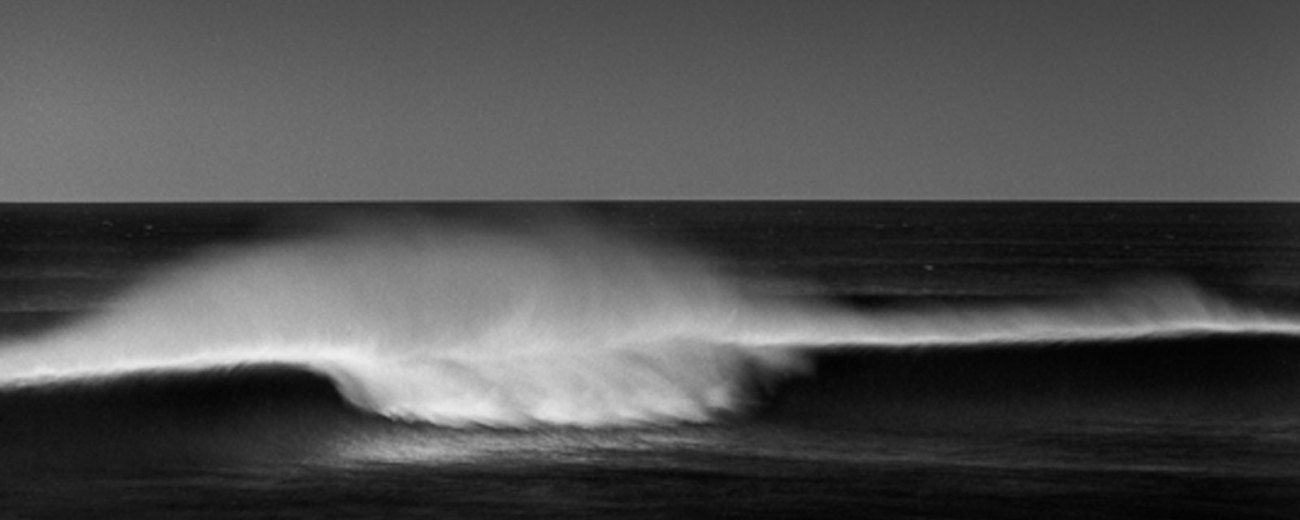 Fine art black and white photo of the ocean