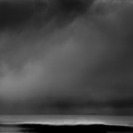 Mare is fine art black and white photo of the atlantic ocean during a big swell in Nazarè, Portugal