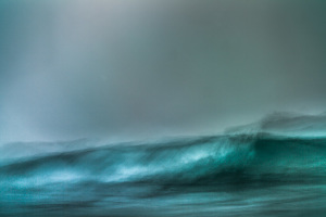 fine art abstract photograph of a stormy ocean