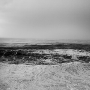 Fine art nbalck and white image of a stormy ocean