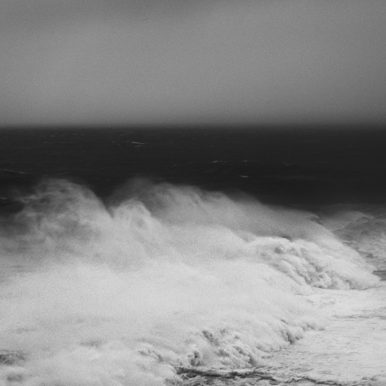 Fine art black and white photography of the ocean and seascape