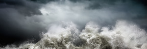 Fine art abstract photography of a stormy ocean