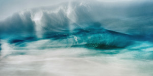 an abstract fine art image of a wave in the Atlantic ocean