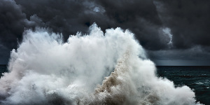 Abstract,Abstract fine art image of the sea in Portugal