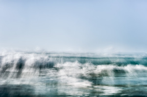 fine art abstract seascapes, photography in color, moving water