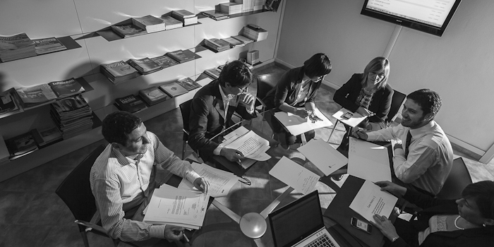 corporate art black and white photography