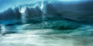 fine art abstract photograph of waves on the atlantic ocean in portugal