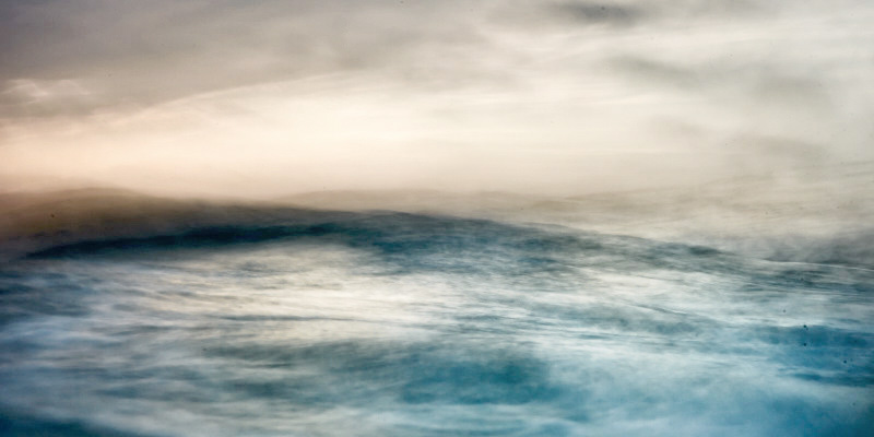 fine art abstract photograph of waves at sunset on the atlantic ocean in portugal