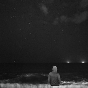 Black and white photography, a self prtrait in front of the sea#ocean#fine art