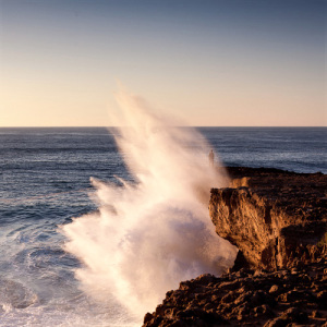 Fine art color image of a seascape in the Atlantic ocean in Portugal