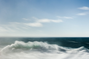 ine art abstract photograph of waves at sunset on the atlantic ocean in portugal