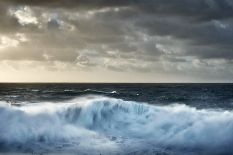 fine art seascape photography. The atlantic ocean during a big swell in Portugal