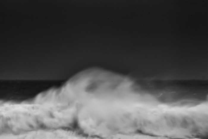 Fine art photography in black and white of an abstract wave in the ocean