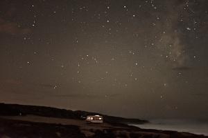 fine art photography of a van in front of the ocean
