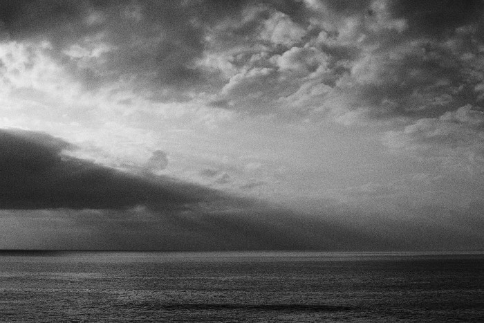 fine art black and white photo of the ocean in Alentejo