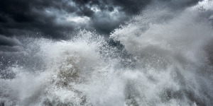 abstract fine art photo of a stormy sea in Italy