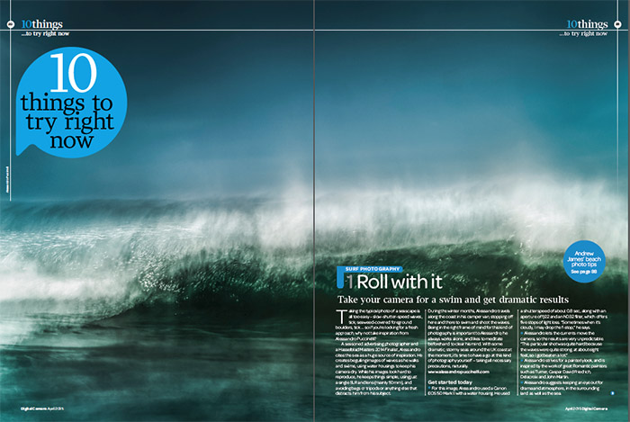 fine art abstract image for my work In Between which is about fine art seascapes, featured in Digital Camera Magaziene in UK