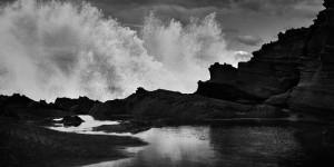 Fine art seascape of the Atlantic Ocean taken in Praia do Malhào in Alentejo during a swell on the Atlantic ocean