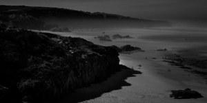 fine art nightscape of a beach on the atlantic ocean, called Prai do Malhòo in Portugal