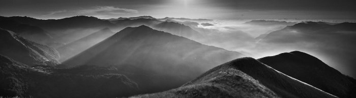 Black and white fine art landscape of Appenini