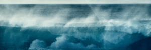 fine art abstract image of a wave in Portugal